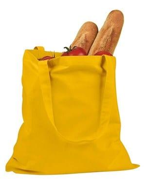 custom shopping bag custom tote bags badedge be007 yellow