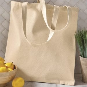 custom shopping bag custom tote bags oad oad113 cotton canvas 12 oz custom tote bag natural