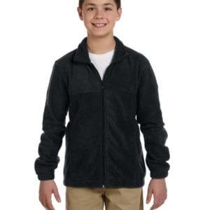 custom youth fleece jackets harrington m990y full zip custom fleece black