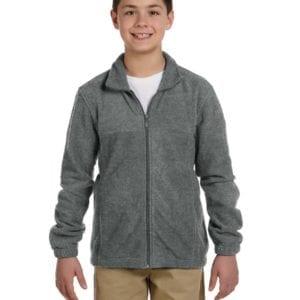 custom youth fleece jackets harrington m990y full zip custom fleece charcoal
