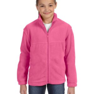 custom youth fleece jackets harrington m990y full zip custom fleece charity pink