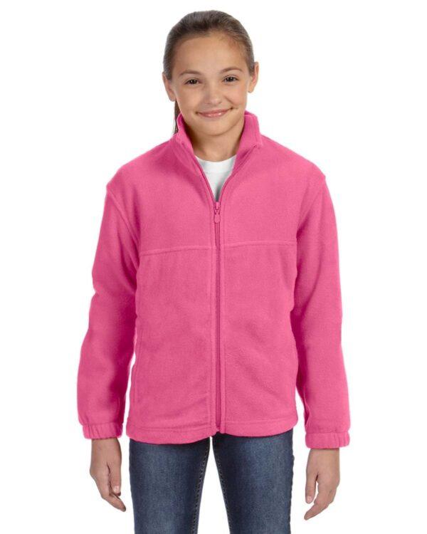 custom youth fleece jackets harrington m990y full zip custom fleece charity pink