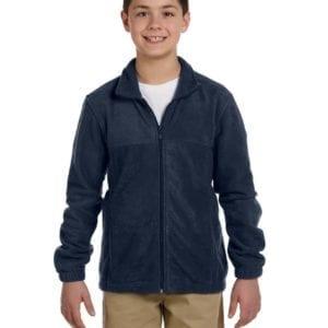 custom youth fleece jackets harrington m990y full zip custom fleece navy
