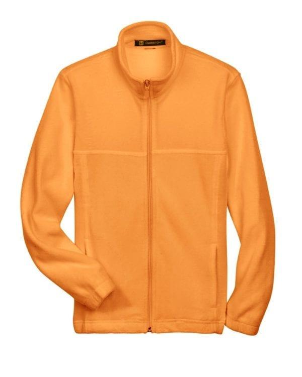 custom youth fleece jackets harrington m990y full zip custom fleece safety orange