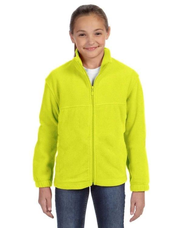 custom youth fleece jackets harrington m990y full zip custom fleece safety yellow