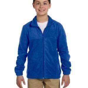 custom youth fleece jackets harrington m990y full zip custom fleece true royal