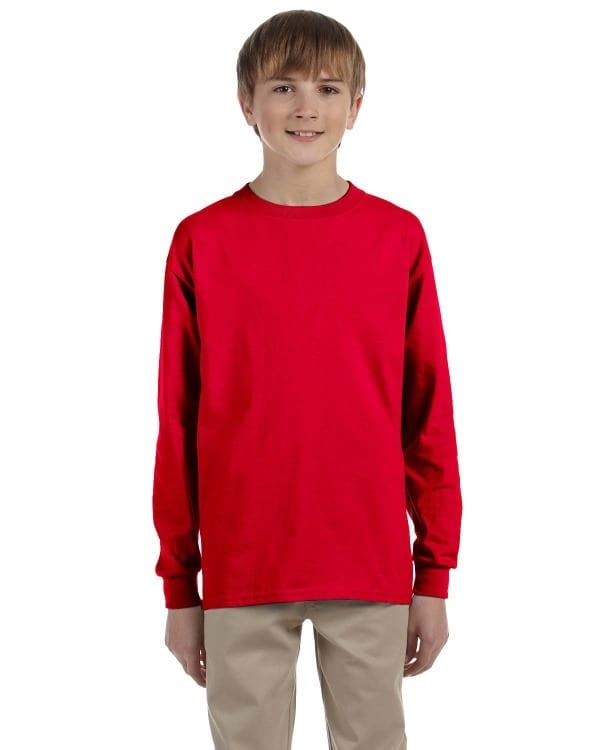 gildan g240b youth ultra cotton long sleeve shirt
