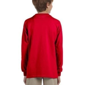 gildan g240b youth ultra cotton long sleeve shirt back