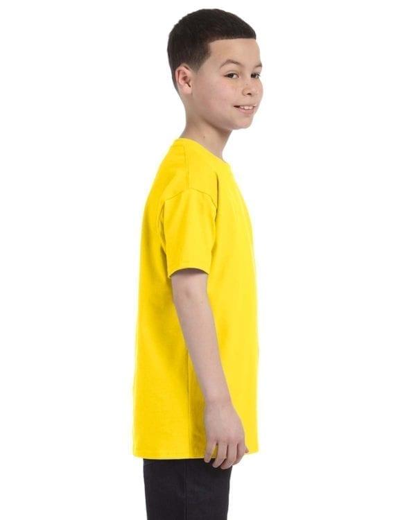 Gildan 500B Heavy Cotton Youth Custom Shirt Side