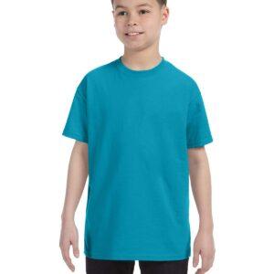 Gildan 500B Youth Custom Shirt Tropical Blue