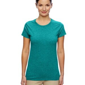 Gildan G500L Custom Shirt Ladies Cotton Jade