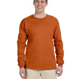 gildan g240 long sleeve shirt T Orange