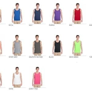gildan g520 custom tank top all colors