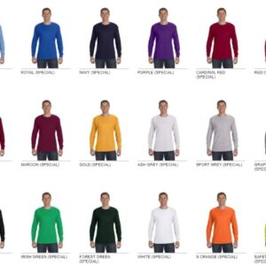 gildan g540 heavy cotton long sleeve custom shirt all colors