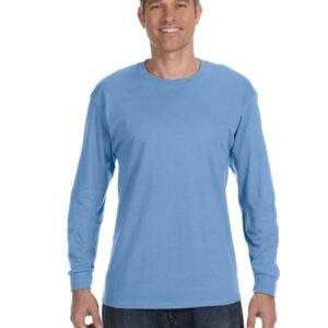 gildan g540 long sleeve custom shirt carolina blue