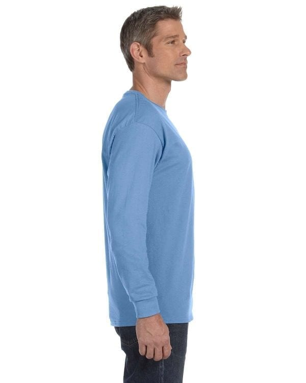 gildan g540 long sleeve custom shirt carolina blue