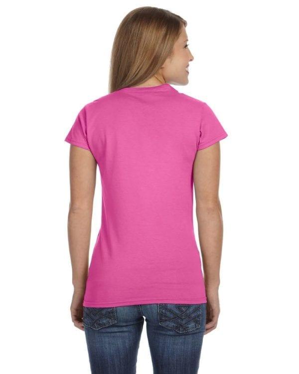 gildan g640l custom ladies softstyle shirt bulk custom shirts azalea (2)