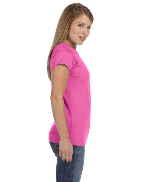 gildan g640l custom ladies softstyle shirt bulk custom shirts azalea (3)