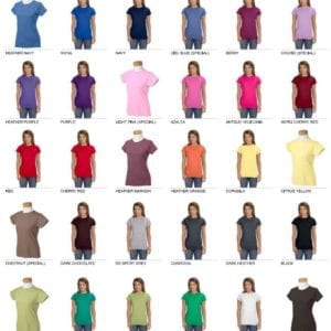 gildan g640l custom ladies softstyle shirt bulk custom shirts colors
