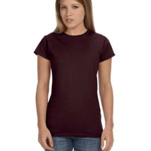 gildan g640l custom ladies softstyle shirt bulk custom shirts heather dark chocolate