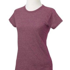 gildan g640l custom ladies softstyle shirt bulk custom shirts heather maroon