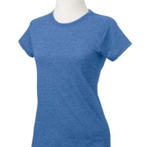 gildan g640l custom ladies softstyle shirt bulk custom shirts heather navy