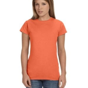 gildan g640l custom ladies softstyle shirt bulk custom shirts heather orange