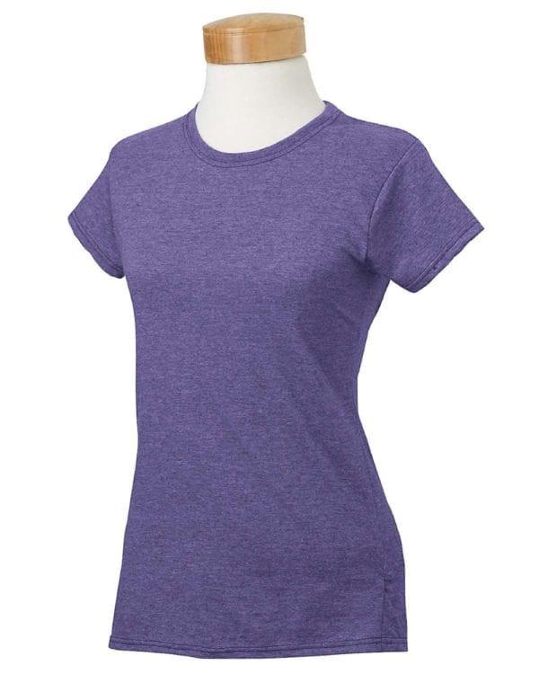 gildan g640l custom ladies softstyle shirt bulk custom shirts heather purple