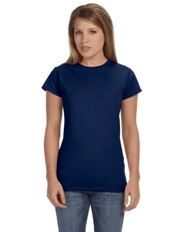 gildan g640l custom ladies softstyle shirt bulk custom shirts navy