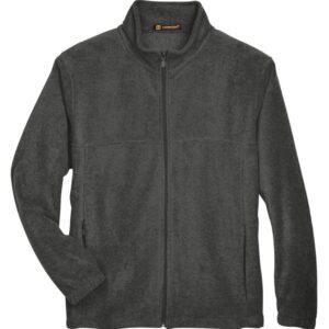 harriton m990 custom full-zip fleece jacket bulk custom shirts charcoal