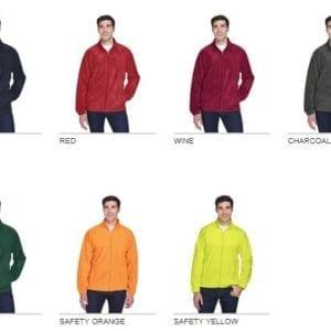 harriton m990 custom full zip fleece jacket bulk custom shirts colors
