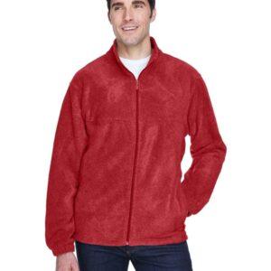 harriton m990 custom full-zip fleece jacket bulk custom shirts red