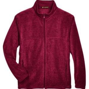 harriton m990 custom full-zip fleece jacket bulk custom shirts wine