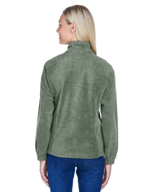 harriton m990w custom ladies 8 oz full-zip back