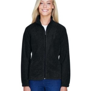 harriton m990w custom ladies 8 oz full-zip black