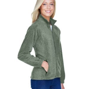 harriton m990w custom ladies 8 oz full-zip dill