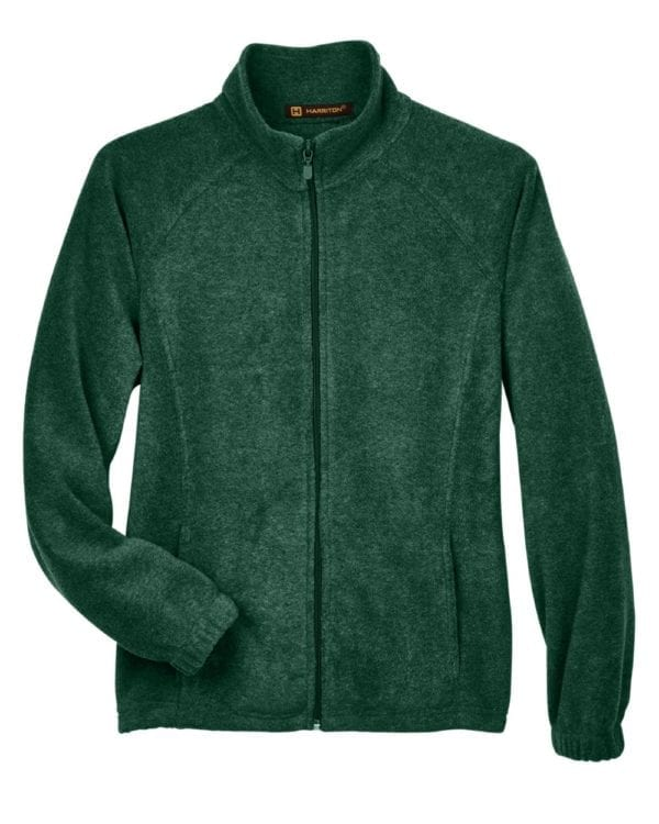 harriton m990w custom ladies 8 oz full-zip hunter