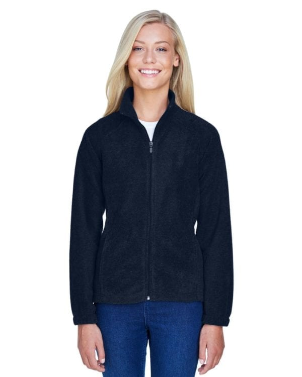 harriton m990w custom ladies 8 oz full-zip navy