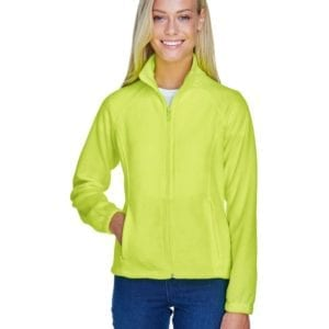 harriton m990w custom ladies 8 oz full-zip safety yellow