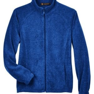 harriton m990w custom ladies 8 oz full-zip true royal