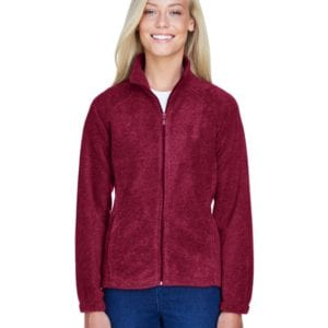 harriton m990w custom ladies 8 oz full-zip wine