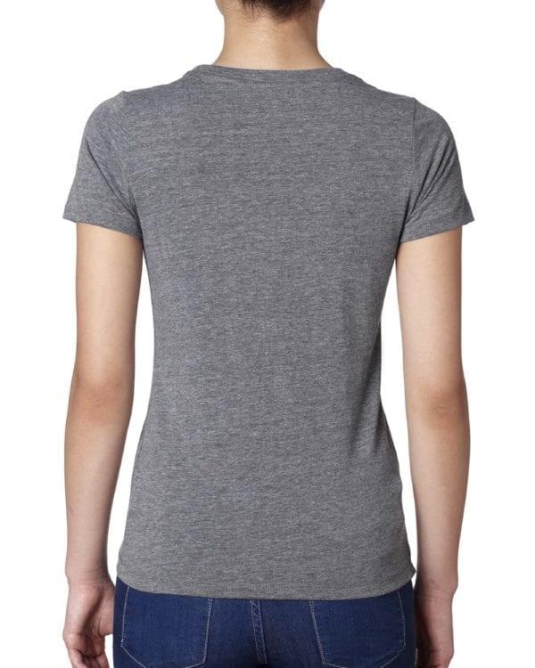 next level 6710 custom ladies triblend crew shirt bulk custom shirt premium heather back