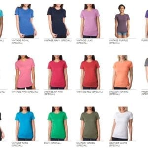 next level 6710 custom ladies triblend crew shirt bulk custom shirts colors