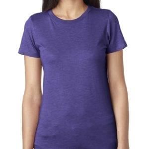 next level 6710 custom ladies triblend crew shirt bulk custom shirts purple rush