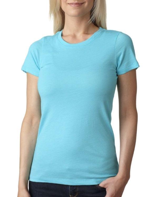 next level 6710 custom ladies triblend crew shirt bulk custom shirts tahiti blue