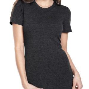 next level 6710 custom ladies triblend crew shirt bulk custom shirts vintage black