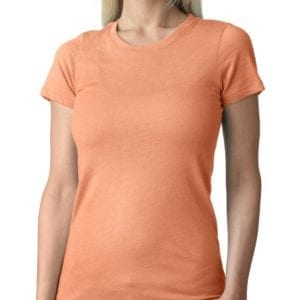 next level 6710 custom ladies triblend crew shirt bulk custom shirts vintage light orangev