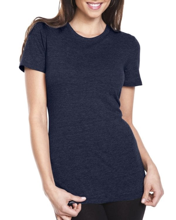 next level 6710 custom ladies triblend crew shirt bulk custom shirts vintage navy