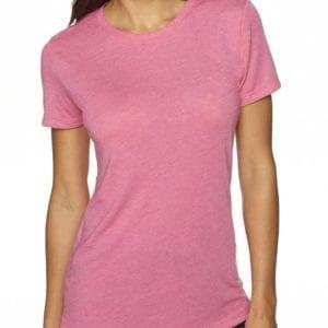 next level 6710 custom ladies triblend crew shirt bulk custom shirts vintage pink