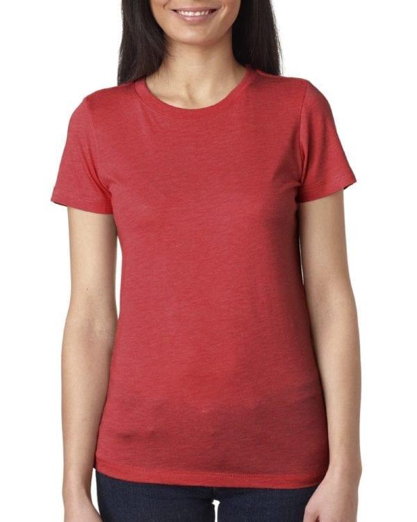 next level 6710 custom ladies triblend crew shirt bulk custom shirts vintage red